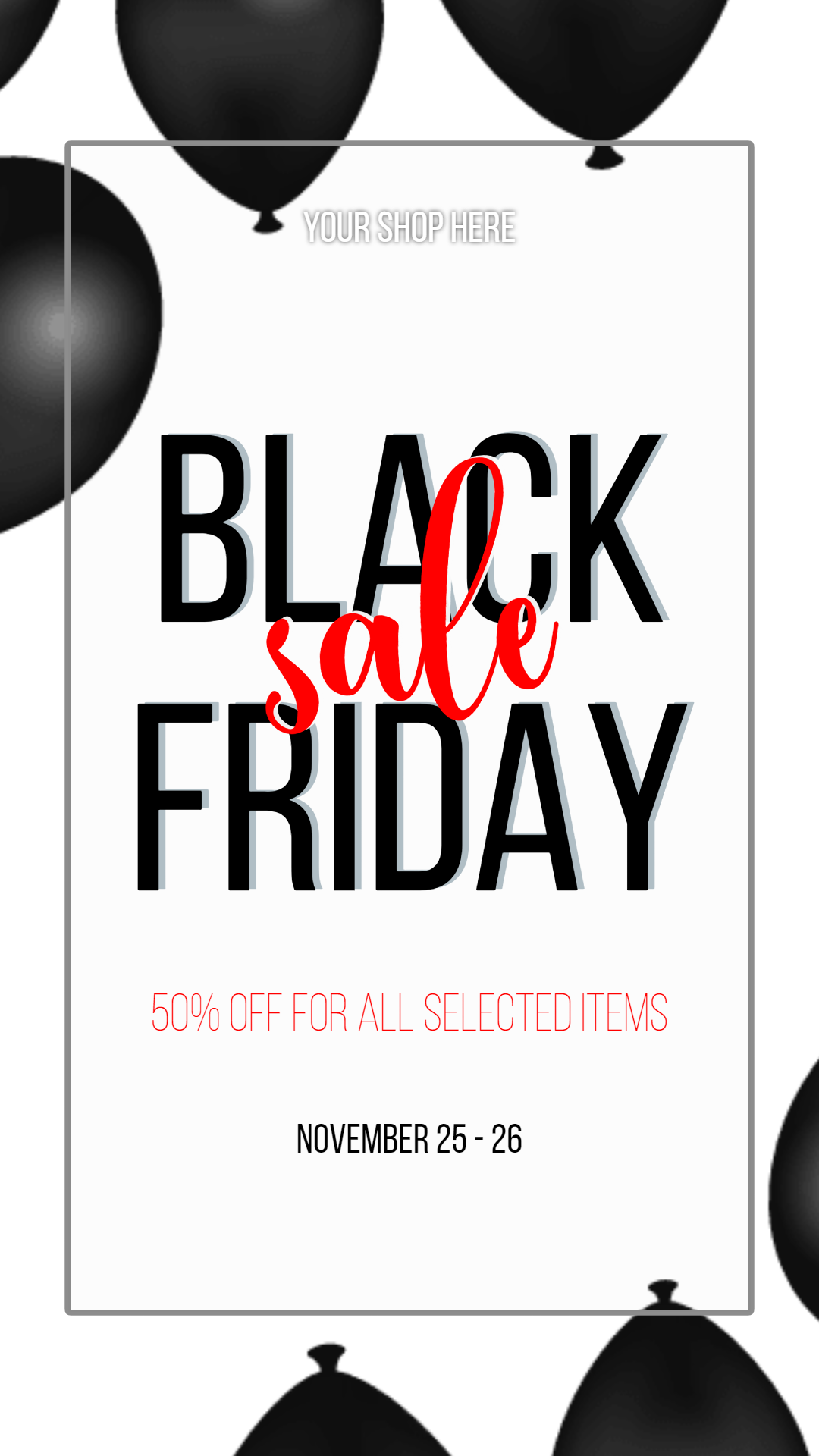Black Friday #black friday #sale Animation  Template