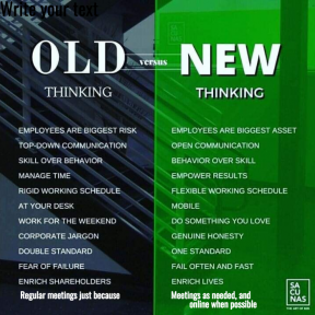Old vs. New Thinking