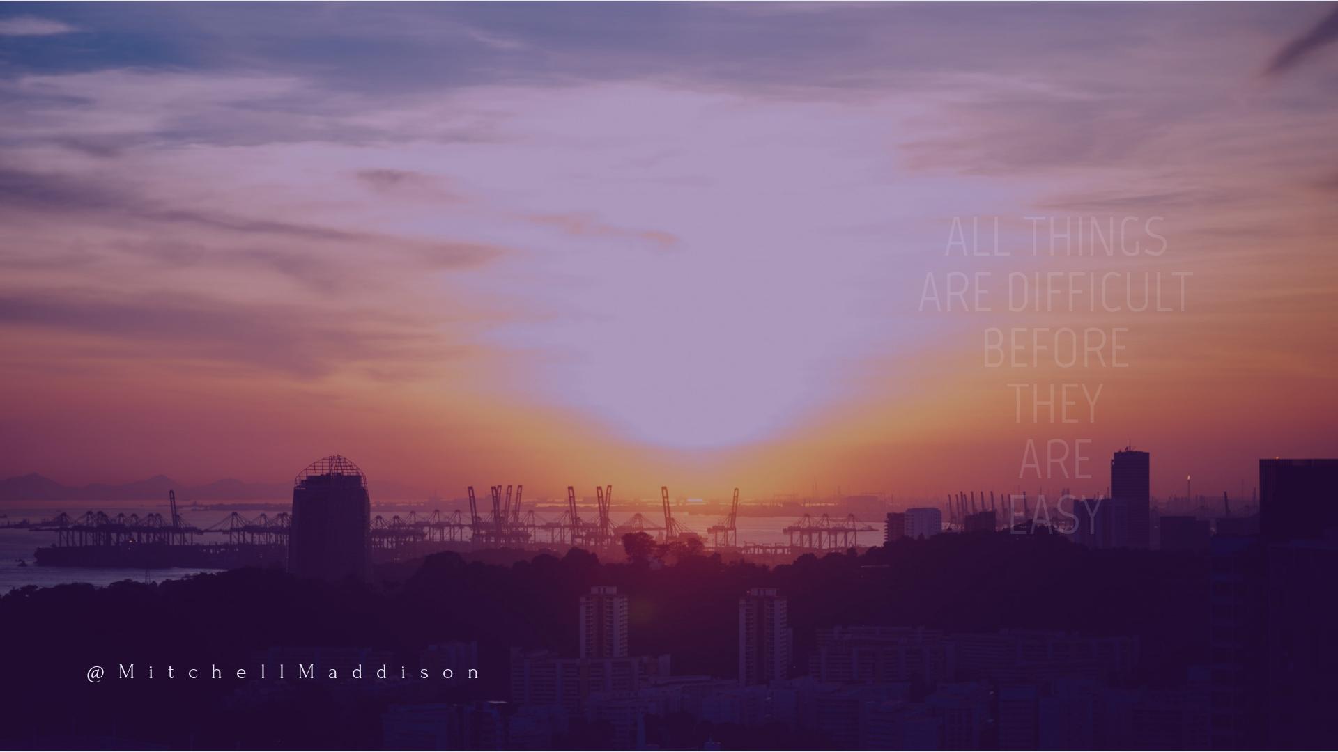 Harbour, Ocean, Skyscraper, Sunset, Sunrise, City, Cloud, Mountain, Wording, Saying, Quote, CallToAction, White,  Free Image