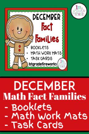 December Math Fact Families