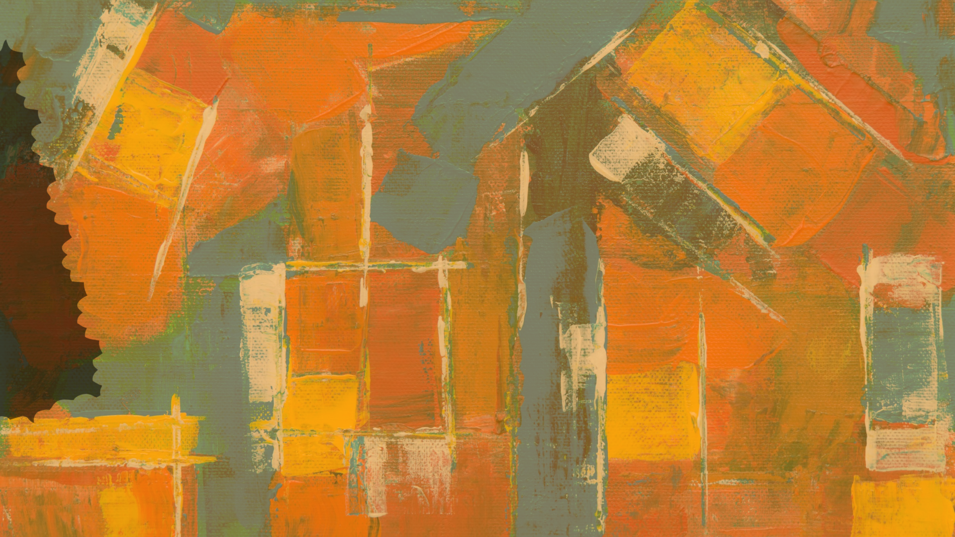 Frames, Wall, Border, Color, Vibrant, Rough, Orange, Art, Fancy, Paint, Rectangles, Expressionism, Abstract,  Free Image