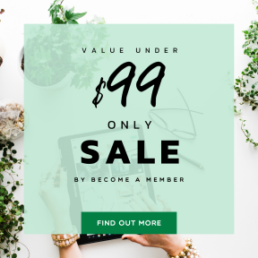 Image design template for sales - #banner #businnes #sales #CallToAction #salesbanner #touch #wavy #tablet #ragged #label #plants