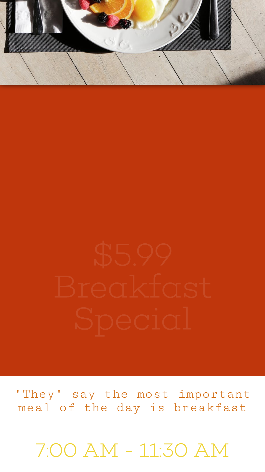 Breakfast special #template #food Animation  Template