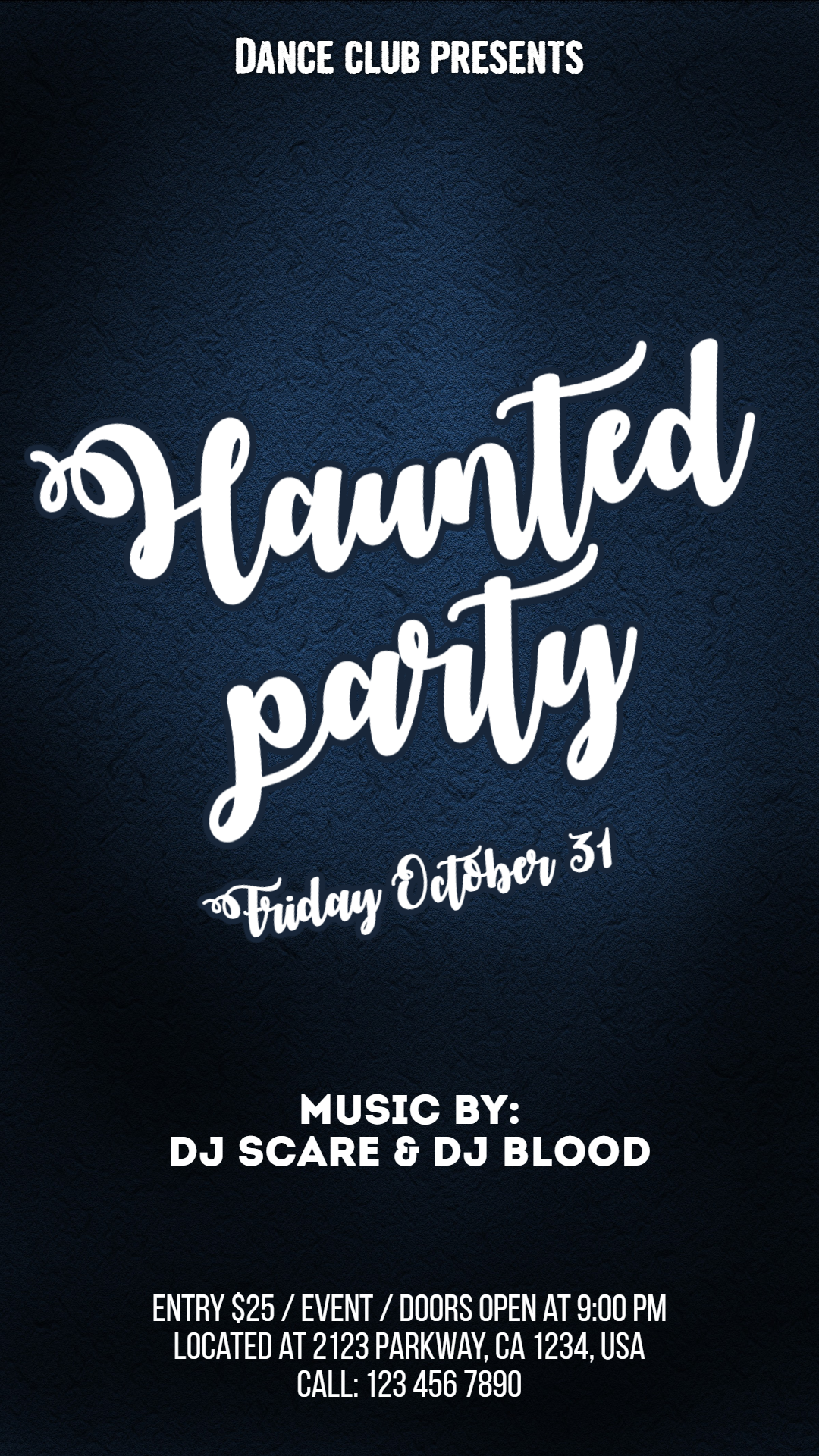 Halloween party #invitation Animation  Template