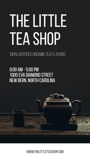 The tea shop #tea #green #teashop #business #poster #eco