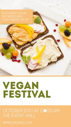 Vegan festival #business #poster  #festival #vegan #food