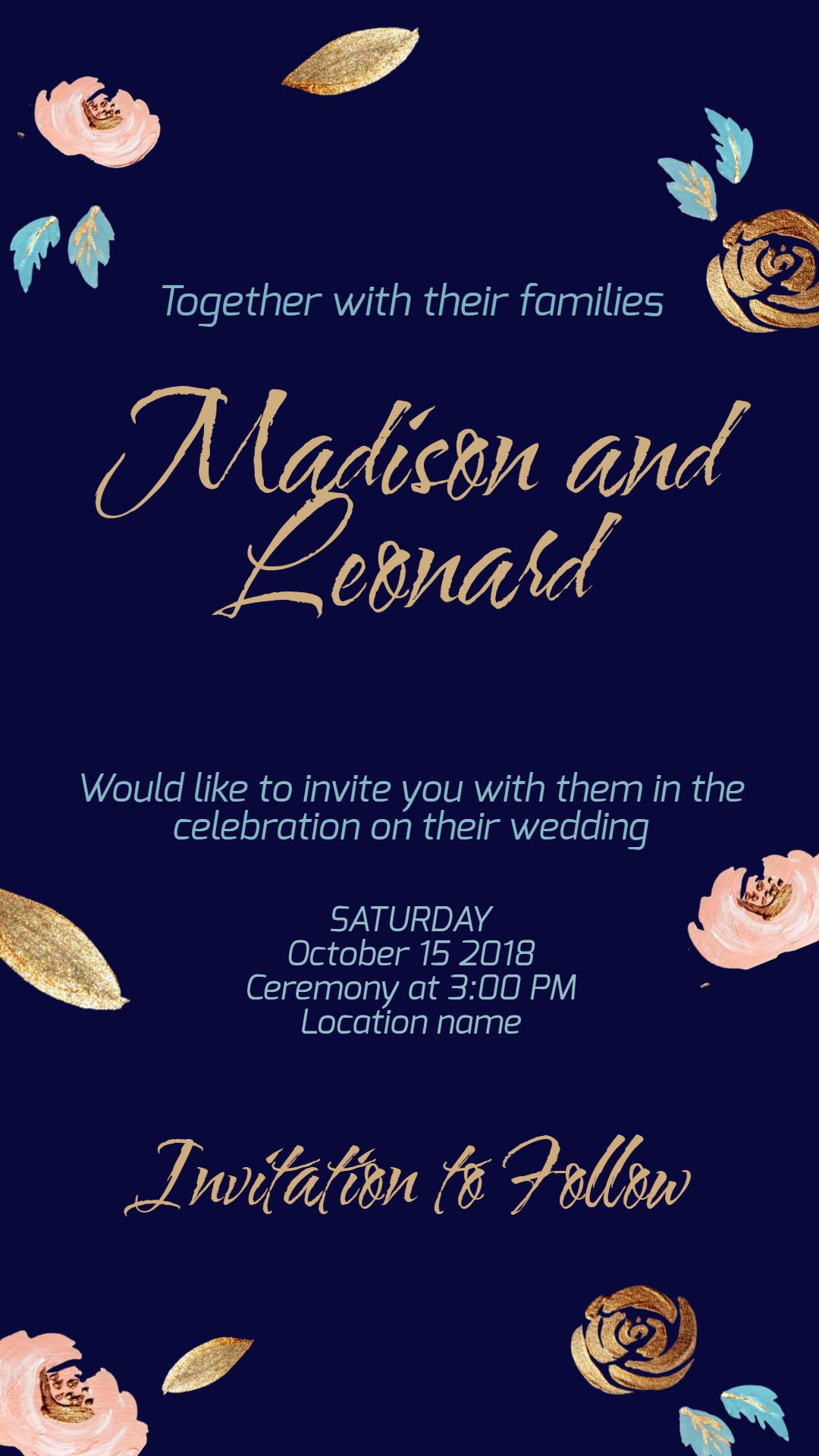 Wedding invitation #invitation Animation  Template