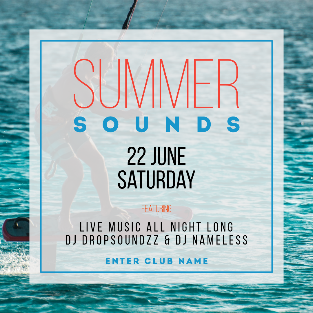 Summer sounds #invitation #summer Design  Template