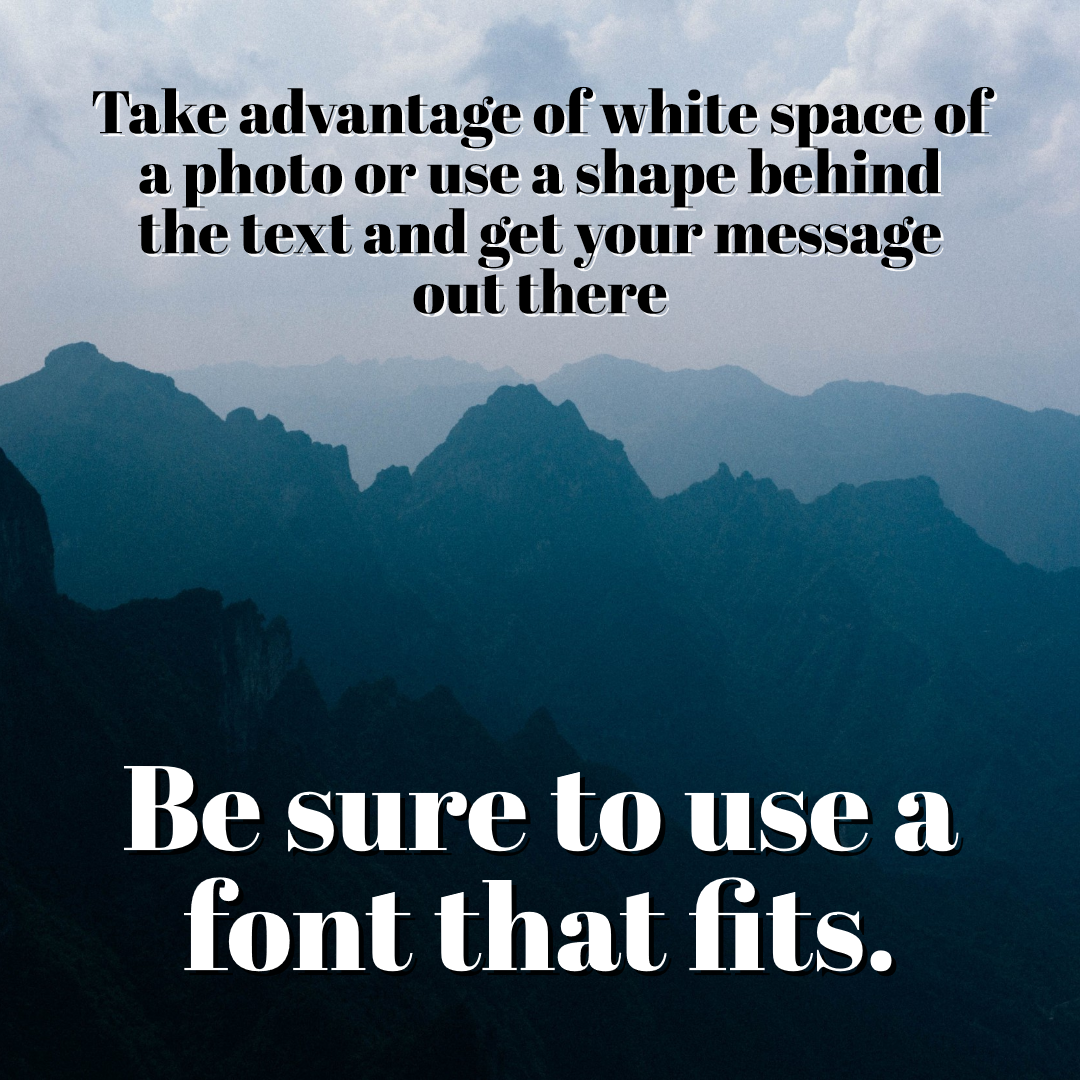 Text over Photo Design  Template
