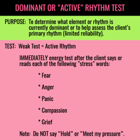DOMINANT OR ACTIVE RHYTHM TEST