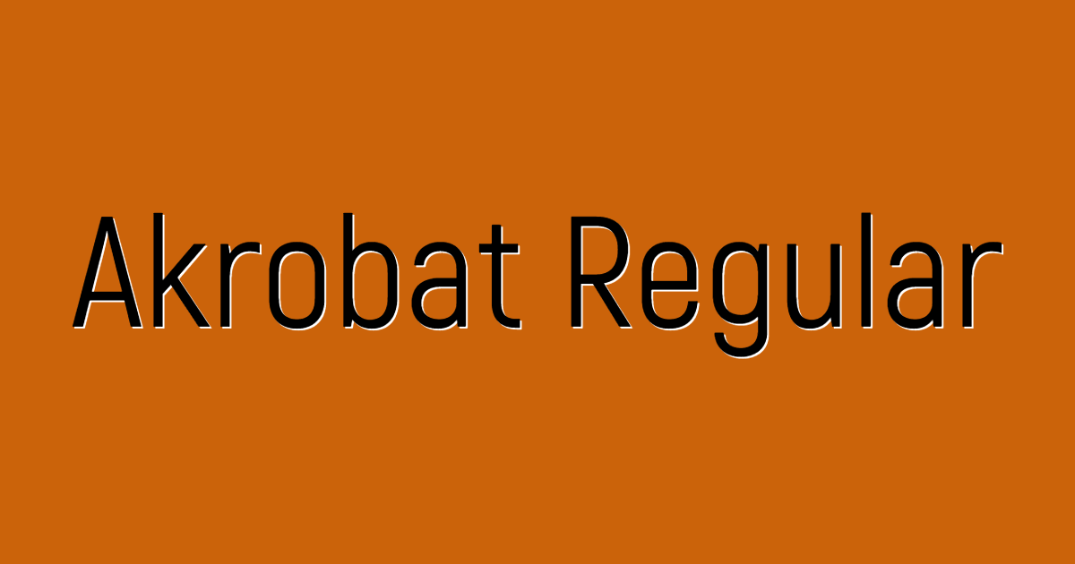 Akrobat Regular font template