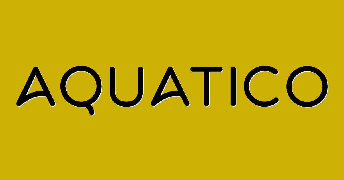 Aquatico font template