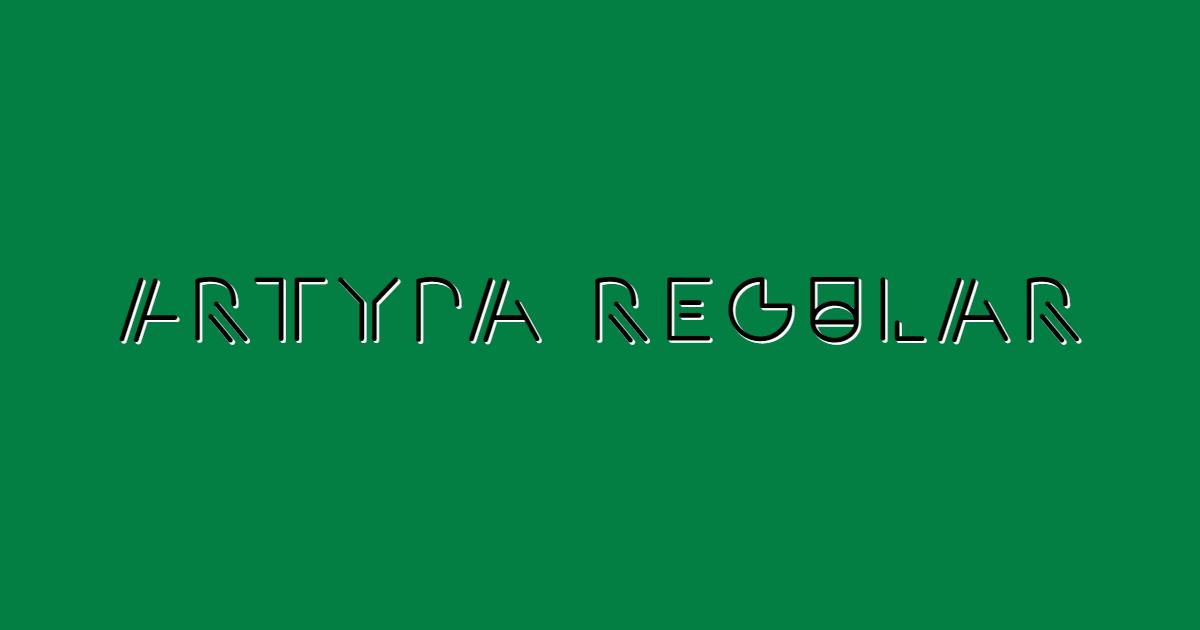 Artyra Regular font template