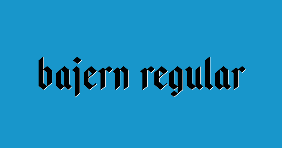 Bajern Regular font template