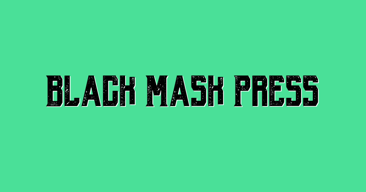 Black Mash Press font template