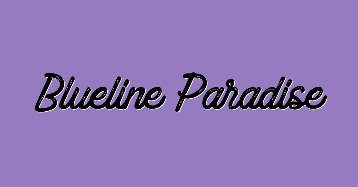 Blue Paradise font template