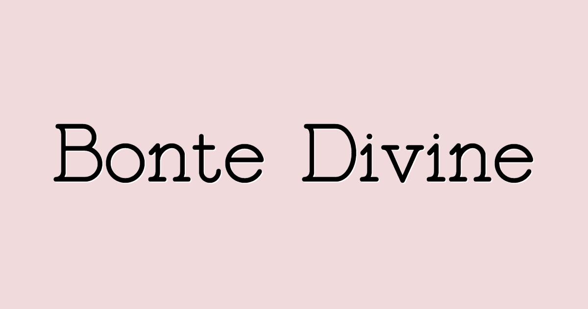 Bonte Divine font template