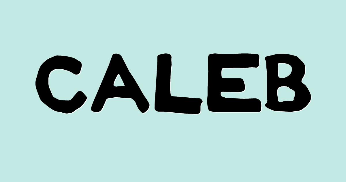 Caleb font template