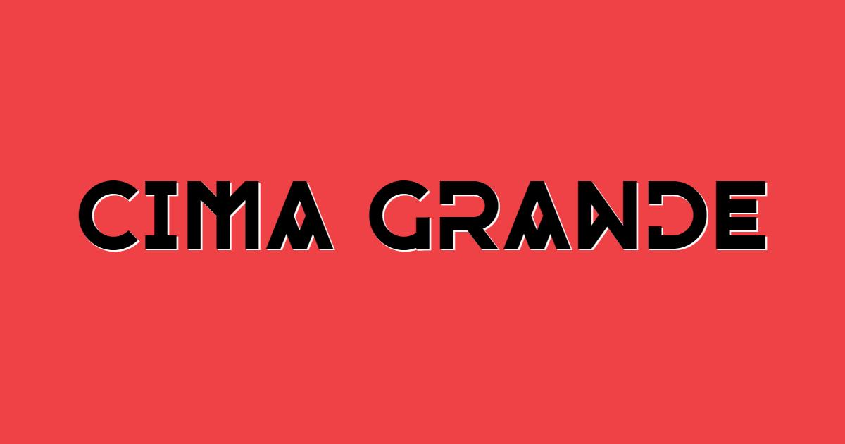Cima Grande font template