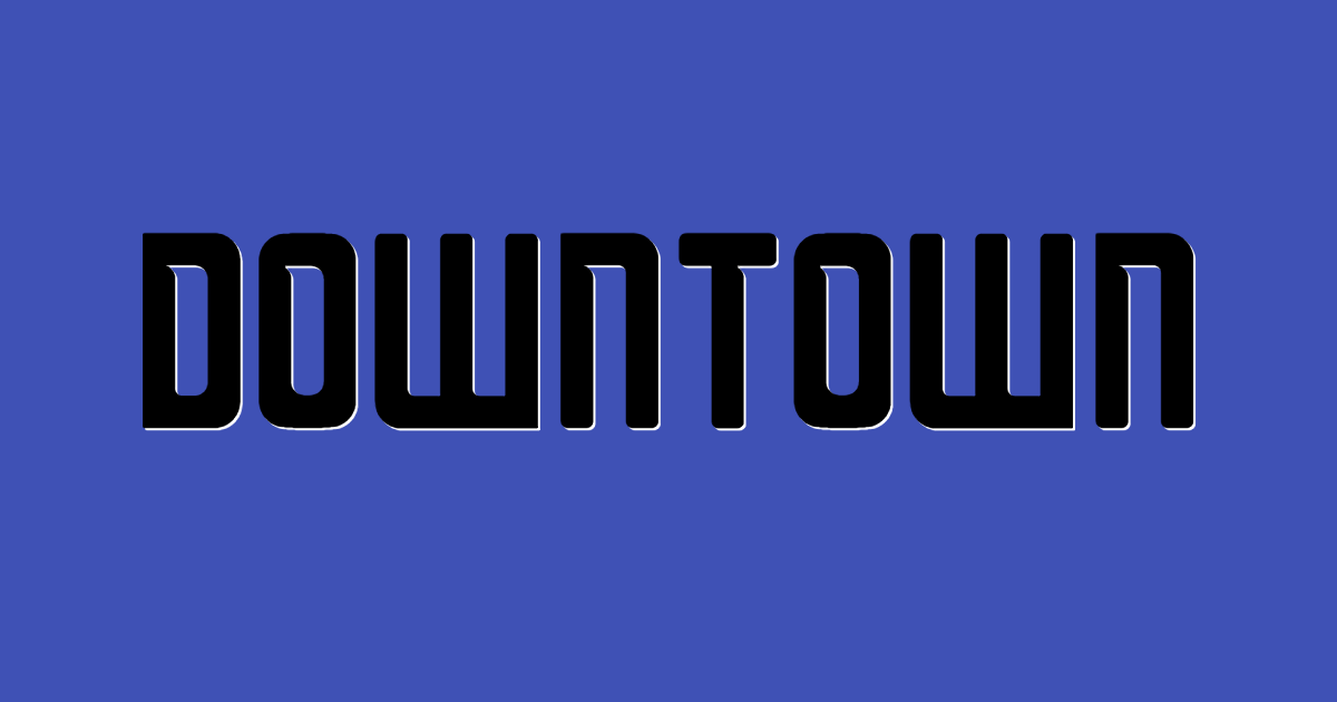 Downtown font template