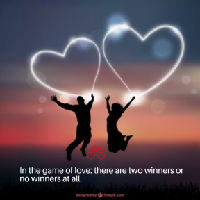 In the game of love