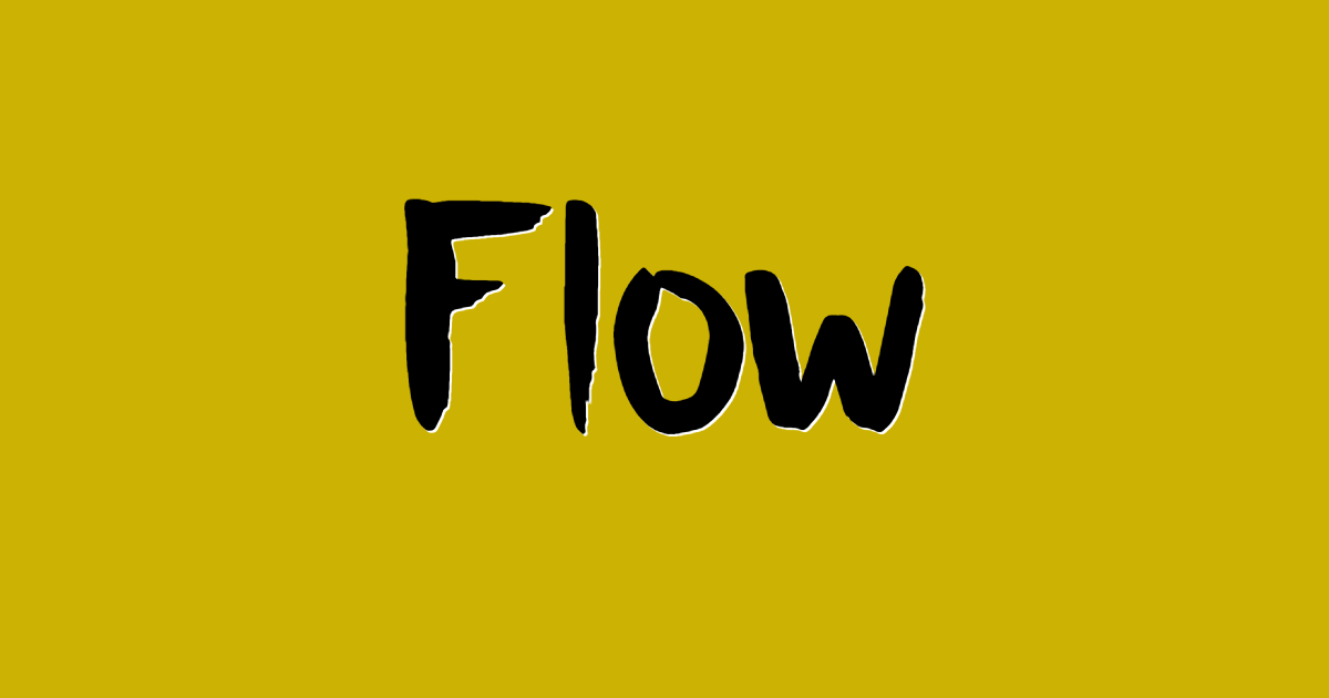 Flow font template