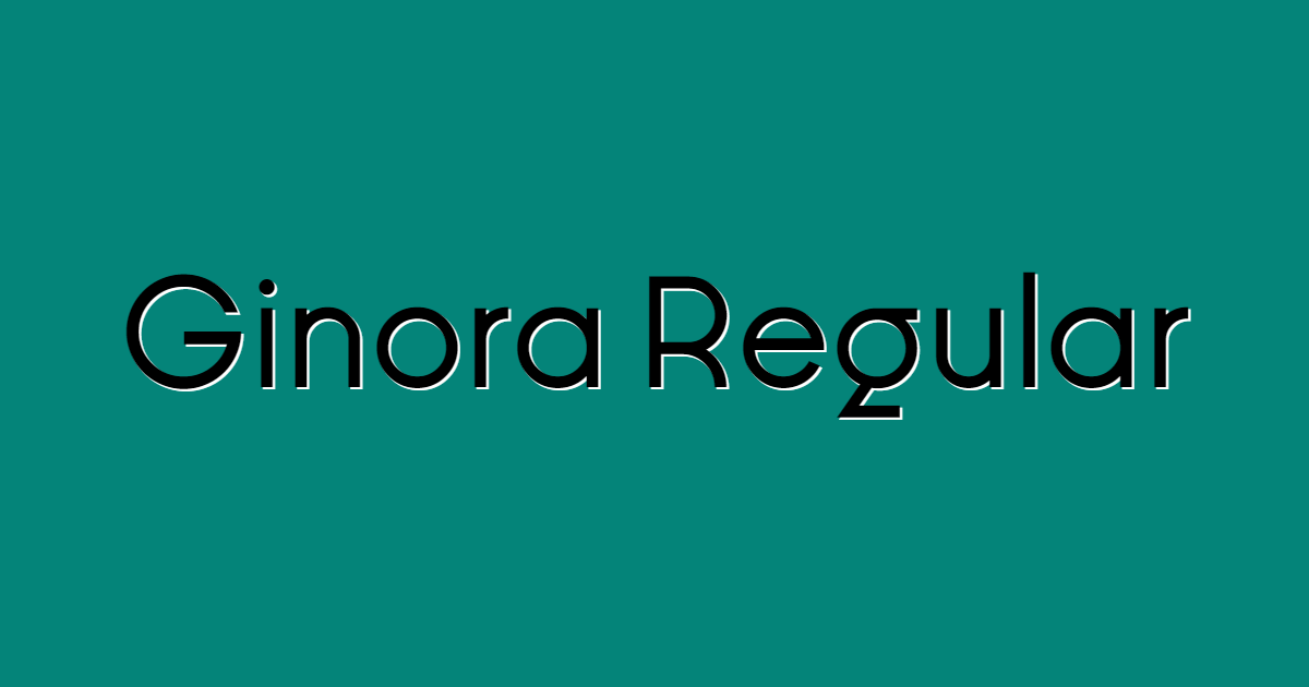 Ginora Regular font template