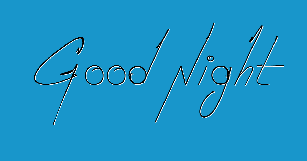 Good Night font template