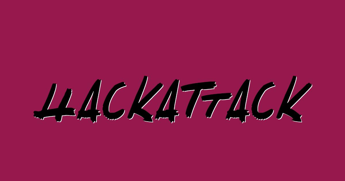 Hackattack font template