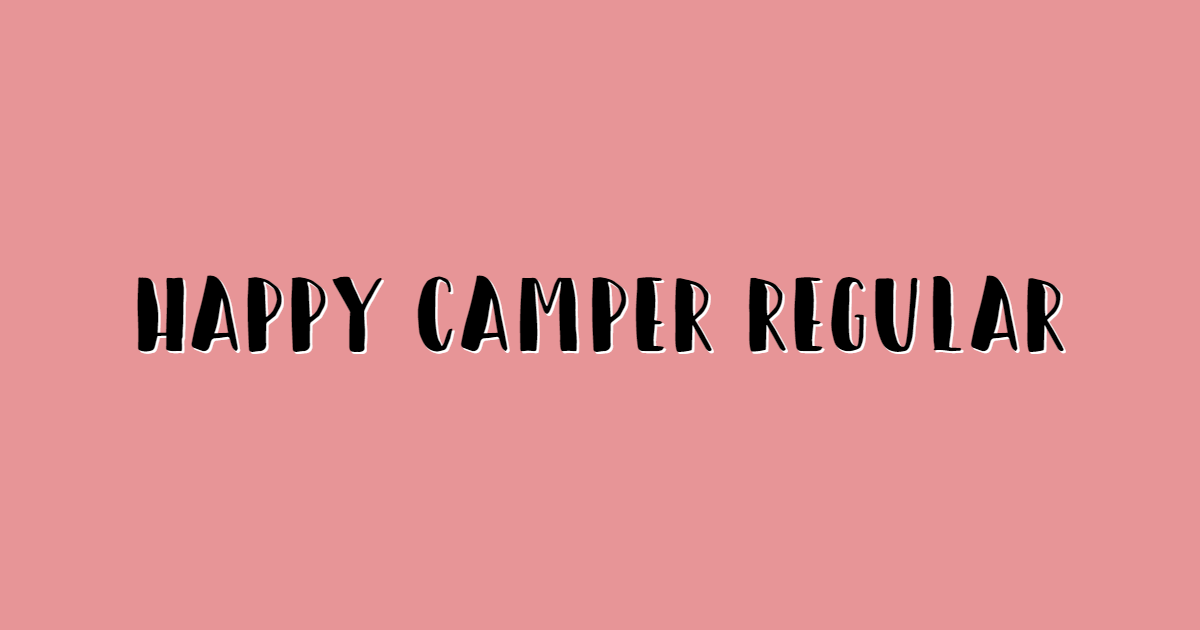 Happy Camper Regular font template