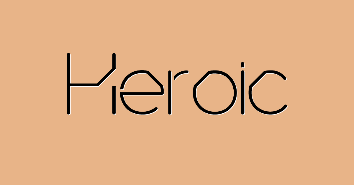 Heroic font template