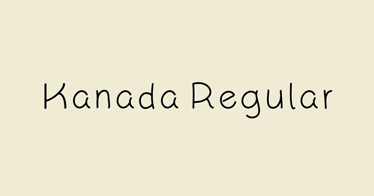Kanada Regular font template