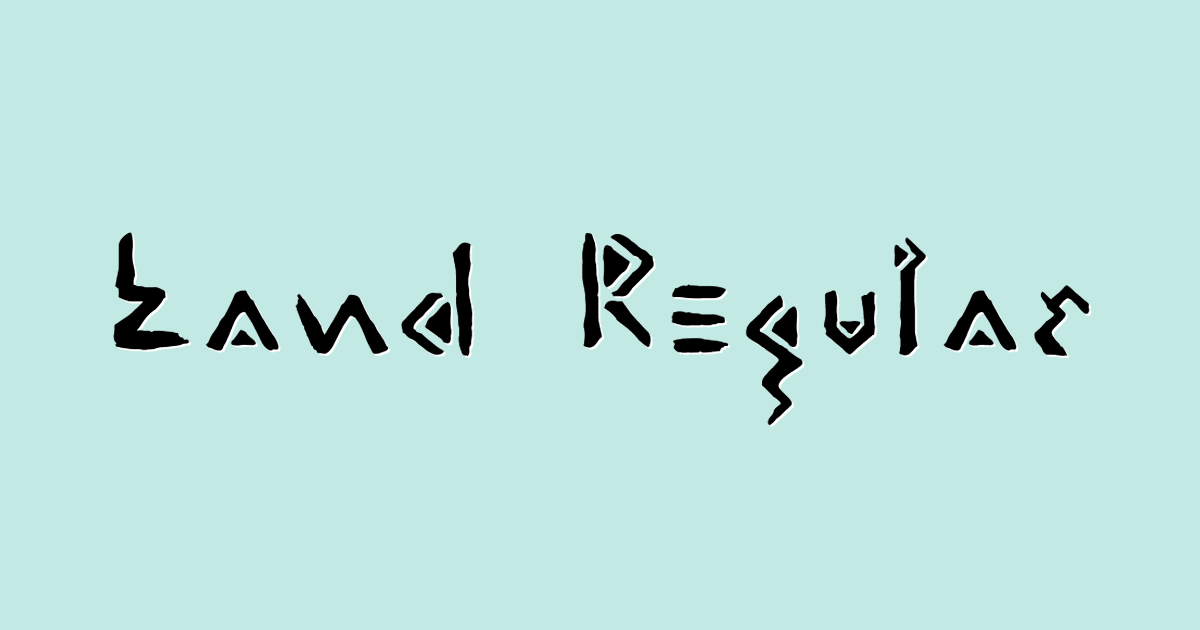 Land Regular font template
