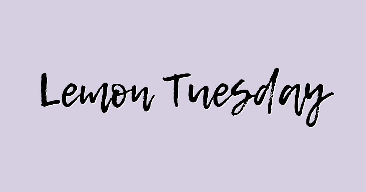 Lemon Tuesday font template