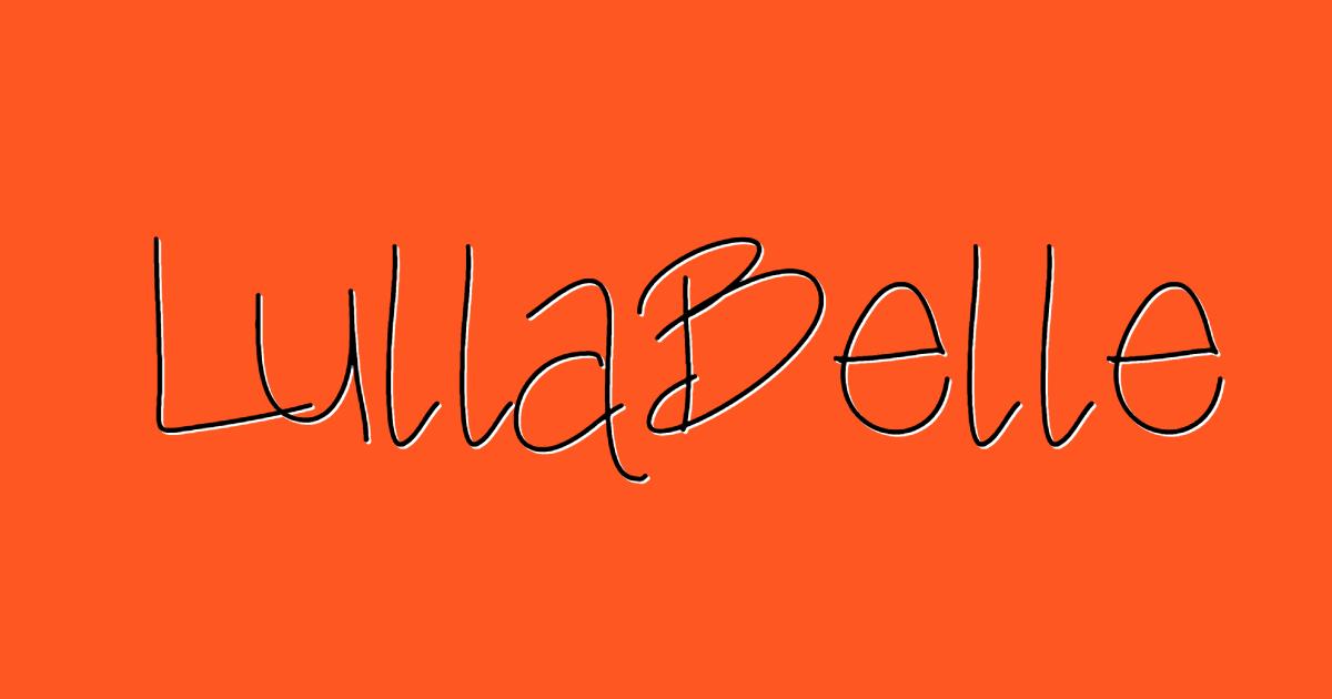 Lulla Belle font template
