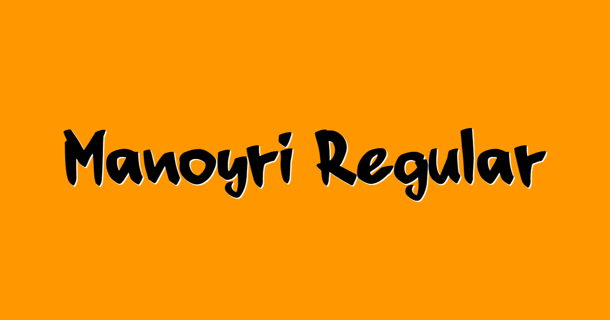 Manoyri Regular font template