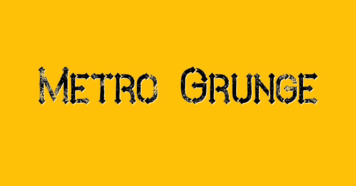 Metro Grunge font template