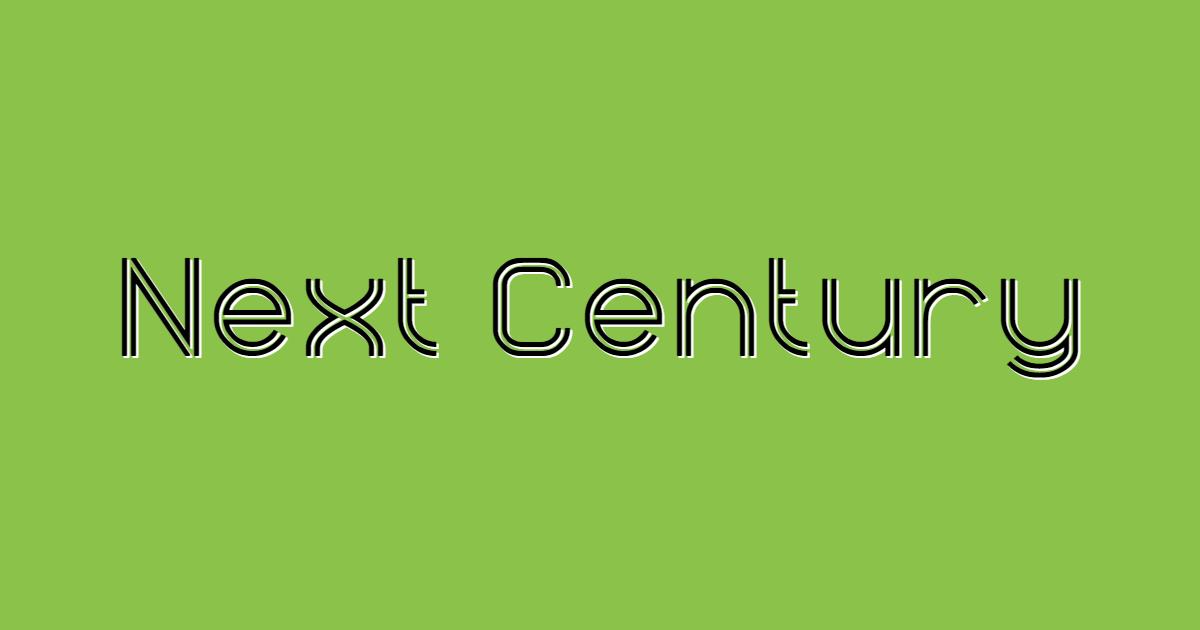 Next Century font template