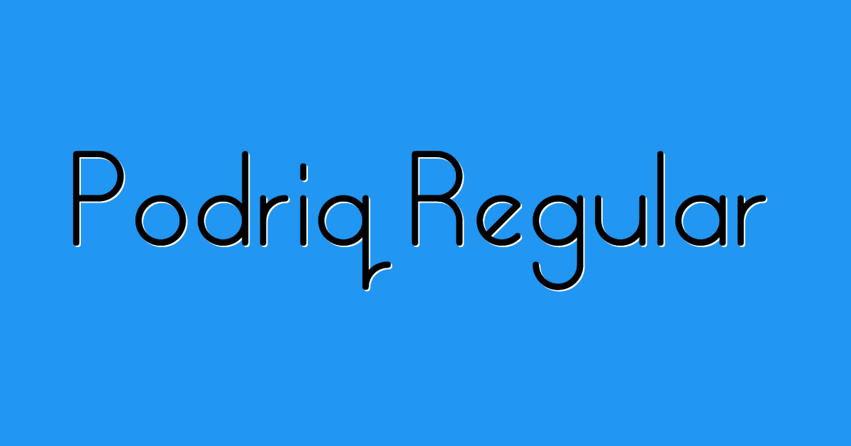 Podriq Regular font template