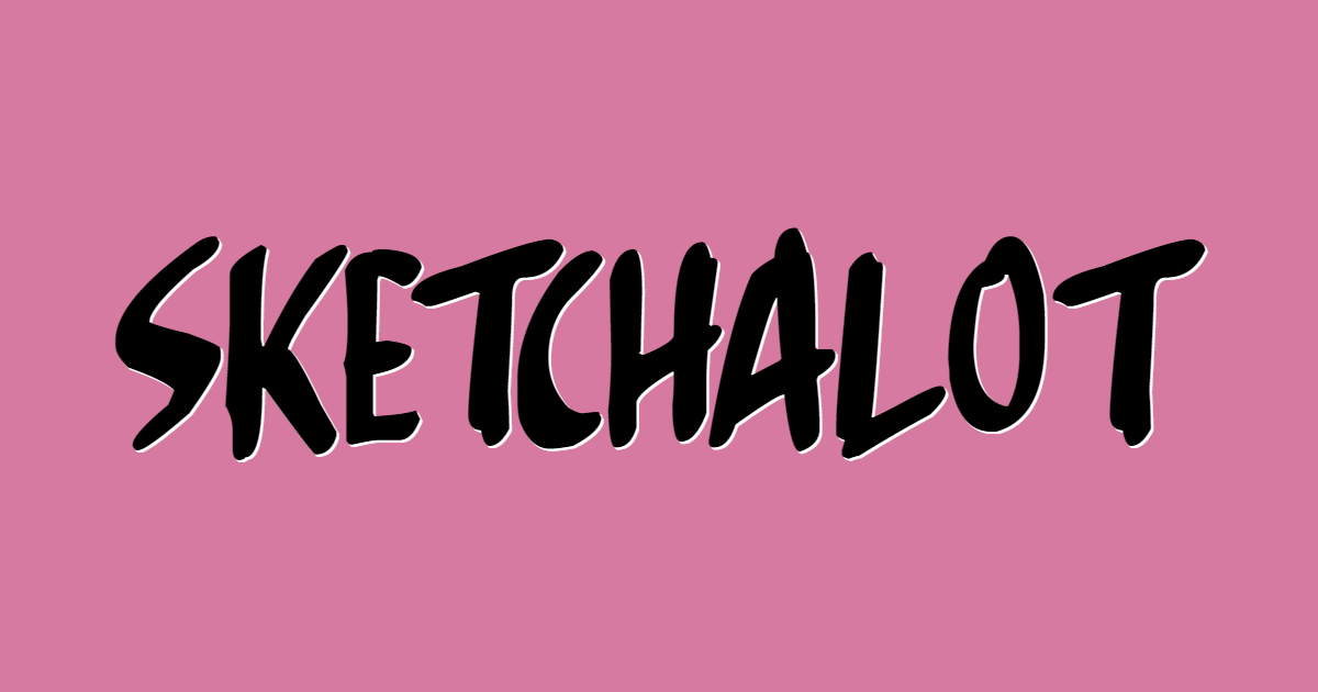 Sketchalot font template