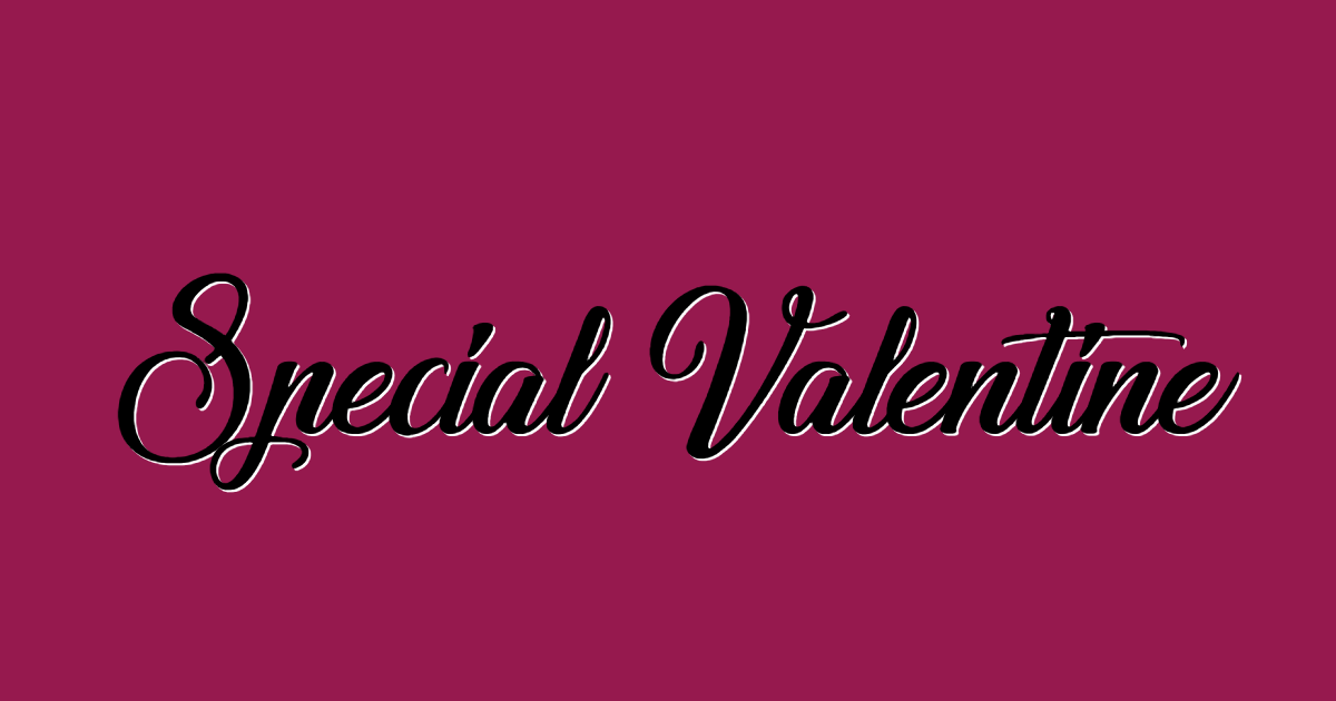 Special Valentine font template