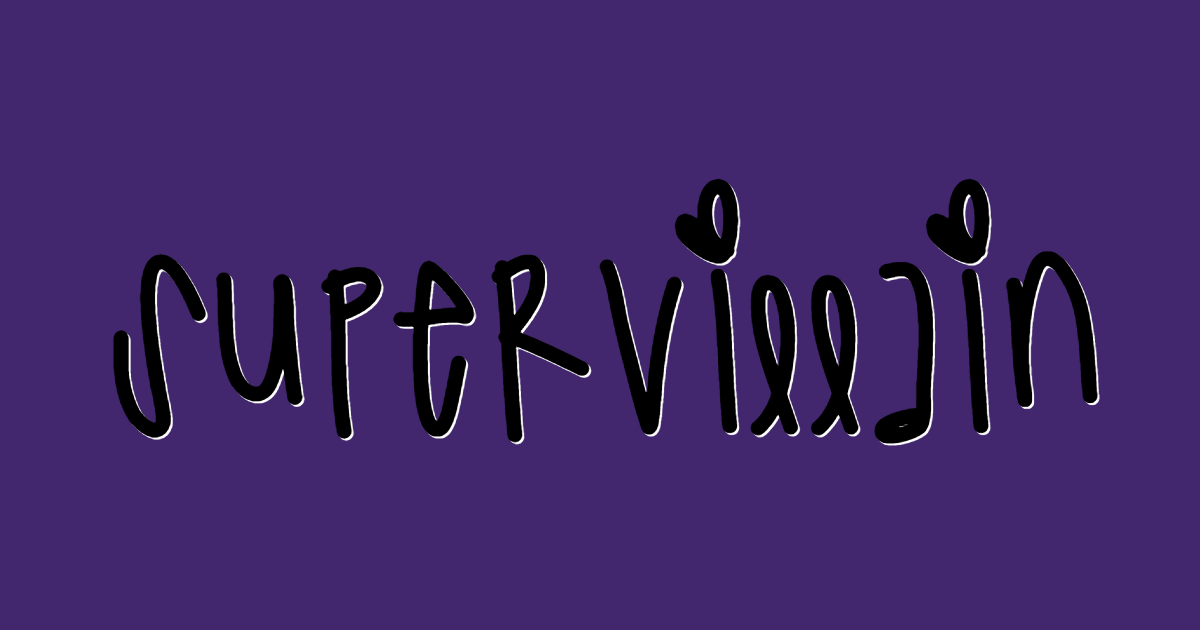 Supervillain font template