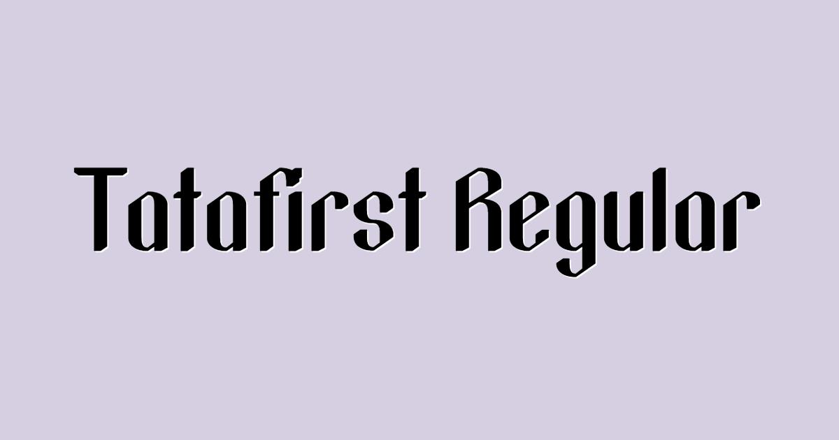 Tatafirst font template