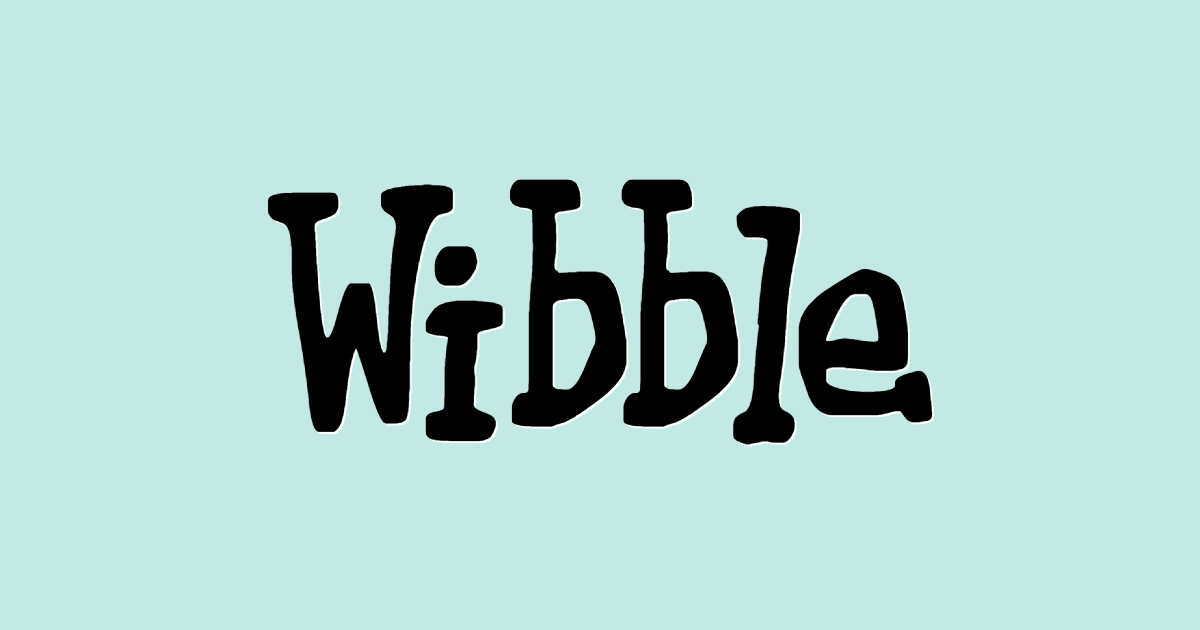 Wibble font template