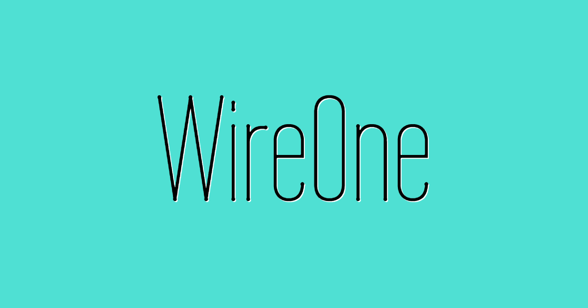 Wireone font template