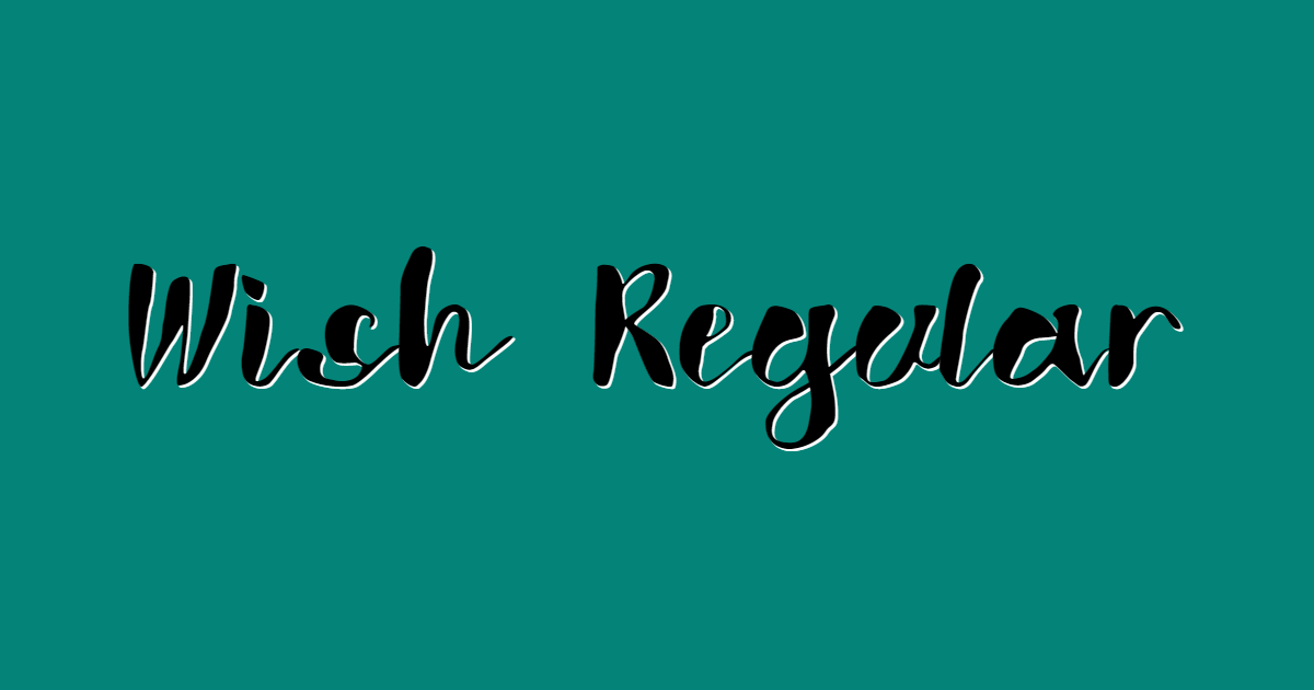 Wish Regular font template