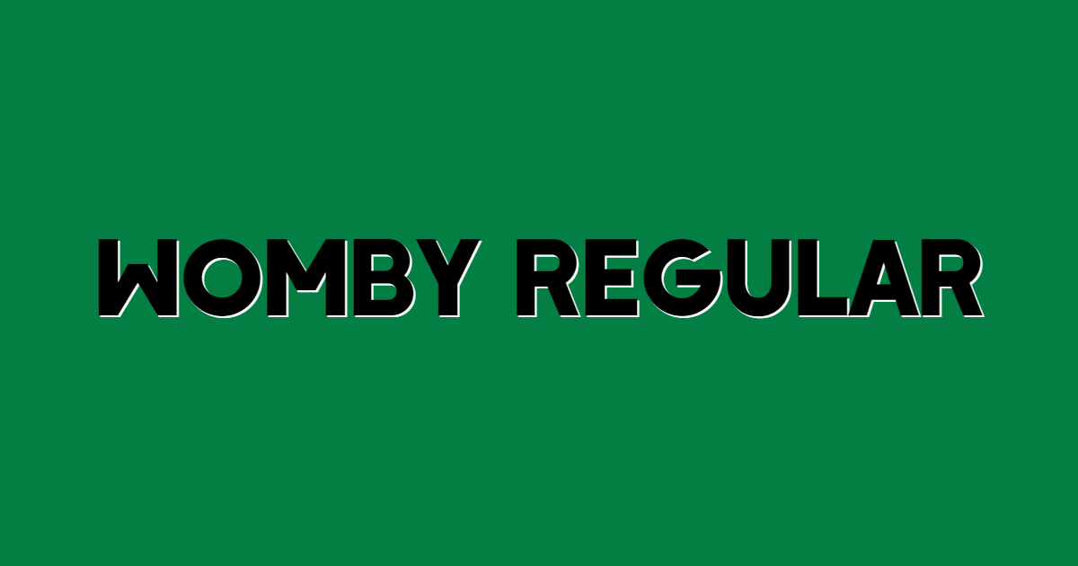 Womby Regular font template
