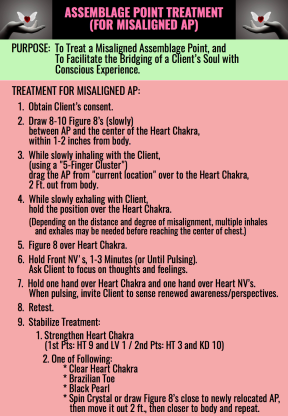 ASSEMBLAGE POINT TREATMENT MISALIGNED