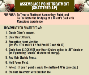 ASSEMBLAGE POINT TREATMENT SHATTERED