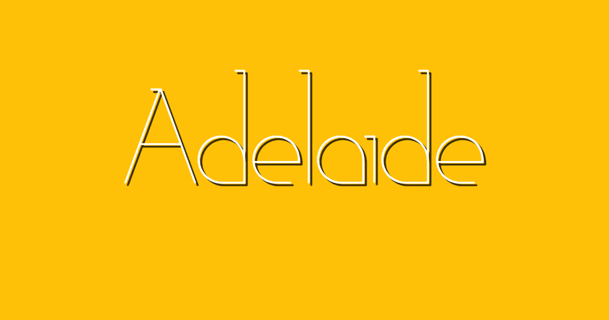 Adelaide font template